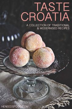 Croatian recipes - a collection of traditional and modernised recipes by… Croation Recipes, Croatian Cuisine, Peach Cookies, Bosnian Recipes, Hungarian Recipes, Macedonian Food, Kolaci I Torte, Romanian Food, Romanian Desserts