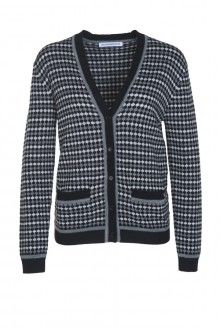 SIS by Spijkers en Spijkers BUBBLE KNIT CARDIGAN (BLACK/GRE/WHITE) 215EURO  http://spijkersenspijkers.nl/shop/all-products/bubble-knit-cardigan-black-grey-white.html #cardigan #knitwear #bubbleknit #fashion #fashion2013 #fashion2014 #style #mode #inspiration #christmasgift #christmas #gift