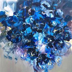 Midnight Blues Series #2 by Elena Henderson, Acrylic on Canvas, Painting | Koyman Galleries