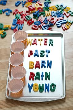 Place all the letters to a spelling word in a small cup. Have Lily place letters in correct order to make a spelling word. Spelling Games, Spelling Practice, Grade Spelling, Spelling Lists, Spelling Activities, Spelling Words, Kindergarten Activities, Spelling Ideas, Word Work Activities
