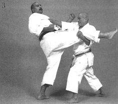Soto sukui uke dōji chūdan gyaku zuki, ashi tsukami, ōsotogari, otoshi zuki Image