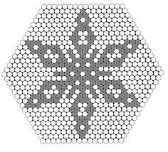 Bilderesultat for hama perler julepynt Hama Beads Design, Hama Beads Patterns, Beading Patterns, Christmas Perler Beads, Christmas Snowflakes, Pearl Crafts, Hama Mini, Motifs Perler, Melting Beads