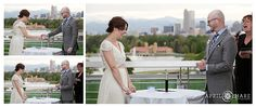 Colorado Wedding Ceremony Photo at Denver Museum of Nature and Science. This is the most unique version of the Unity Candle ceremony I've ever seen! - Denver Wedding Photographer   April O'Hare Photography - April O'Hare Photography http://www.apriloharephotography.com #ColoradoWedding #DenverWedding #DenverMuseumofNatureandScience #CityParkDenver #MountainViews #DenverWeddingPhoto #ChemistyWedding