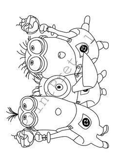 tekenen handwerken minions afdrukken en