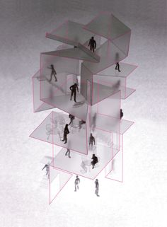 Galerie S von Akihisa Hirata Architect - japanese architecture Architecture Pliage, Folding Architecture, Conceptual Architecture, Japanese Architecture, Architecture Office, Architecture Drawings, Architecture Design, Architecture Portfolio, Arch Model
