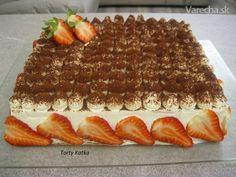 Tiramisu à la Katka (fotorecept) - Recept Tiramisu, Cake Recept, Treats, Baking, Ethnic Recipes, Food, Mascarpone, Sweet Like Candy, Goodies