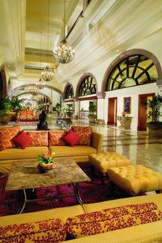 Lobby of the CasaMagna Marriott Cancun Resort.