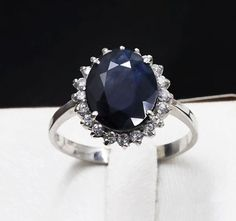 Sapphire sterling silver ring by agemforthesoul on Etsy