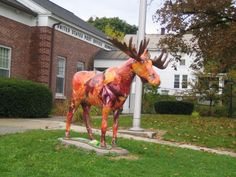 Bennington Vermont Moose Bennington Vermont, New England States, Deer Family, Places Ive Been, Moose, Giraffe, Beautiful Places, Road Trip, Elk