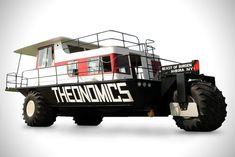 Amphibious Houseboat 'Beast of Burden' | HiConsumption Amphibious Vehicle, 427 Cobra, Formula 1 Car, Apocalypse Survival, Floating House, Jaguar E Type, Boat Design, Tractors, Beast