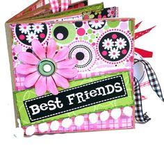 Premade Scrapbook - Best Friends Paper Bag Album