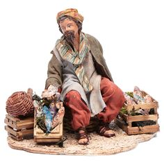 Vendedores de pescado 13 cm belén Angela Tripi | venta online en HOLYART Christmas Nativity Scene, Christmas Art, Nativity Sets, Christmas In Italy, Natal Diy, Diorama, Cribs, Miniatures, Bible