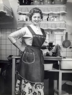The Netherlands , during the fifties: a houseproud housewife.
