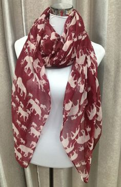 The Ellie Crimson Scarf - Need this for gameday!     For Great Sports Stories and Audio Podcasts, Visit our Blog at www.RollTideWarEagle.com