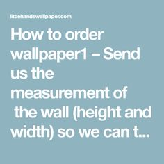 How to order wallpaper1 – Send us the measurement of  the wall (height and width) so we can tell how much it will cost. The price is 50€ per sq meter + shipping cost.2 – Let us know where you are to quote the shipping cost.3 – Tell us the name or image number of…