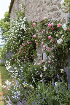 Claire Basler, a chic french artist living in an old iron factory outside of Paris has made her home/ studio a masterpiece. Her artwork is nature – based, whimsical, earthy and gorgeous. Amazing Gardens, Beautiful Gardens, Beautiful Flowers, Cottage Garden Plants, Garden Pots, Cottage Gardens, French Cottage Garden, Backyard Cottage, Farmhouse Garden