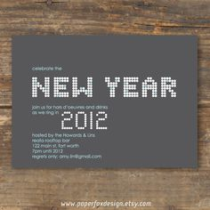 New Year's Party Invitation - DIY Printable - Contemporary Glitz