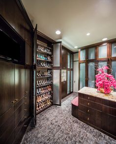 Warm, Elegant, Contemporary with a touch of Glam - contemporary - closet - houston - By Design Interiors