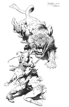Frank Frazetta, The works of the late master fantasy artist, with News, Galleries, and Biography. Frank Frazetta, Comic Book Artists, Comic Books Art, Comic Art, Cat Tiger, Science Fiction, John Carter Of Mars, Dragons, Drawn Art