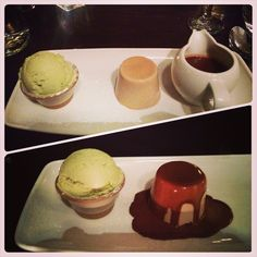 #chocolate #pannacotta , choc sauce & #pistachio #icecream  #foodporn #noms #dessert #edinburgh #scotland
