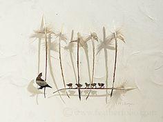 Con unas tijeras de cirugía ocular, pinzas y una lupa el artista Chris Maynard (Olympia, Washington, EE.UU) convierte plumas de ave en obras de arte. Para Chris, las plumas son uno de los grandes l