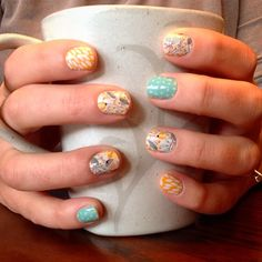 Sweet whimsy, teal mini polka and sunny lotus. An amazing Jamberry nail wrap combo for Spring!  http://selfexpressioniskey.jamberrynails.net/