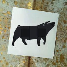 Show Pig Vinyl Sticker Option 6