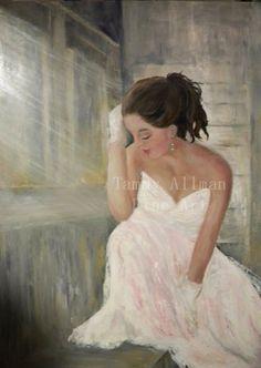 Custom Original Bridal Painting, Dress Painting, Original Oil Painting