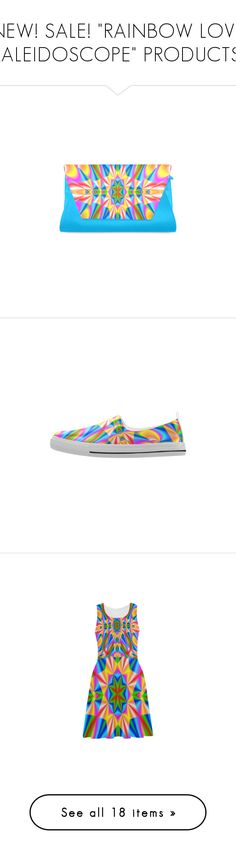 """""""NEW! SALE! """"RAINBOW LOVE KALEIDOSCOPE"""" PRODUCTS!"""" by artist4god-rose-santuci-sofranko on Polyvore featuring bags, handbags, clutches, shoes, men's fashion, men's shoes, athletic shoes, sneakers, wallets and messenger bags"""