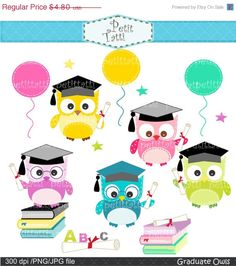 Items similar to ON SALE Graduation day clip art - owls clip art, Digital clip art for all use, Graduate Owls clip art, congratulations clip art on Etsy Graduation Clip Art, Graduation Cards Handmade, Graduation Scrapbook, Graduation Day, Owl Clip Art, Owl Art, Clip Art Pictures, Art Images, Step Card