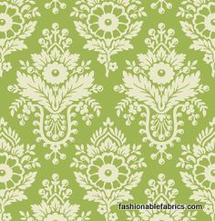 Fabric... Up Parasol Damask in Green by Heather Bailey for FreeSpirit