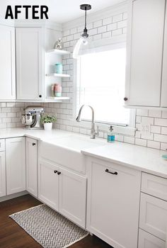 Before & After: Kitchen Renovation by 7th House on the Left ˘ So clean and bright.