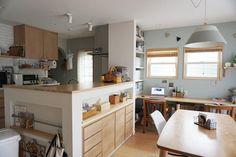 仕事と子育てと両立しやすい家を作っていきたいと思います。 夫と息子(3歳)の3人暮らし。2016年11月に家族が増えます☆ Decor, Furniture, House, Home, Japanese House, Modern, Table, Kitchen
