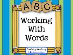 Working With Words Center Activities