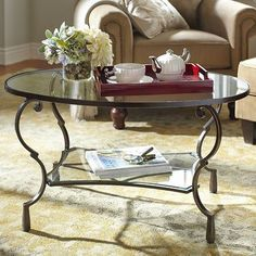 Hollywood Regency Brass And Glass Coffee Table House Things - Chasca coffee table