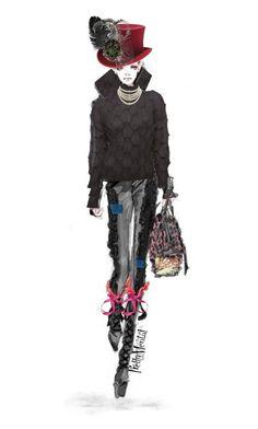 """On a Mission"" by prettymental ❤ liked on Polyvore featuring Chanel, Issey Miyake, Bottega Veneta, Valentino, Christian Dior, Hermès, polyvoreeditorial and prettymental"
