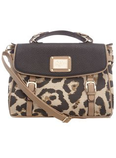 Leopard print buckle satchel  #DorothyPerkins