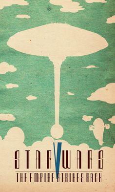 Star Wars: Episode V - The Empire Strikes Back (1980) ~ Minimal Movie Poster by Travis English