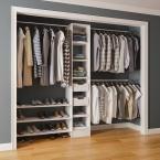 84 in. H x 45 in. to 105 in. W x 15 in. D Reach-In Closet Kit in White