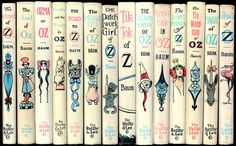 Wizard of Oz Series - L. Frank Baum (Illustrated by Dick Martin) Wizard Of Oz Pictures, Wizard Of Oz Book, Oz Series, Book Spine, Land Of Oz, Reading Quotes, The Wiz, Great Books, Book Lists