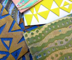 Printing with Gelli Arts®: Making Foam Texture Plates for Gelli Printing! Gelli Plate Printing, Stamp Printing, Screen Printing, Foam Stamps, Gelli Arts, Art Journal Techniques, Plate Art, Stamp Making, Tampons