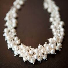 Freshwater Pearl Necklace by jomariejewelry on Etsy, $219.00 Made by my friend Jodie! Favorite necklace ever. My bridesmaids and I wore the earrings and necklace at my wedding almost exactly 2 years ago!