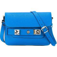Proenza Schouler mini 'PS11' shoulder bag ($1,760) ❤ liked on Polyvore featuring bags, handbags, shoulder bags, blue, blue purse, shoulder handbags, blue shoulder bag, mini handbags and proenza schouler handbag