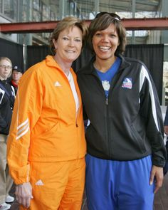 Basketball coaches Pat Summit and Shimmy Gray-Miller