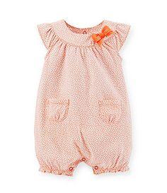 Carter's Newborn-24 Months Printed Shortall - Orange/Multi