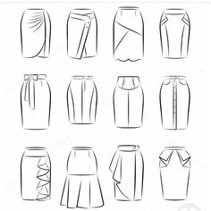 """16 curtidas, 1 comentários - ⚜DONNA XAVIER⚜ (@donnaxavierblog) no Instagram: """"Difícil é escolher qual a mais linda! #modelosdesaia #saiaslindas #saias #modelando"""" Dress Design Drawing, Dress Design Sketches, Fashion Design Sketchbook, Fashion Design Drawings, Illustration Mode, Fashion Illustration Sketches, Fashion Sketches, Clothing Sketches, Fashion Dictionary"""