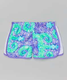 Look at this Purple & Blue Swirls Shorts - Girls on #zulily today!
