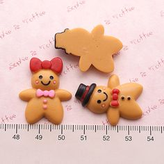 Kawaii Cabochons Mr & Mrs Gingerbread Man by SophieToffeeCo, $5.60