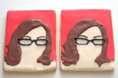 Cookies of a Blogger for her Birthday Party Custom Cookies by Rolling Pin Productions