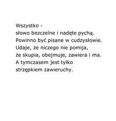 """""""Wszystko""""  Wisława Szymborska"""